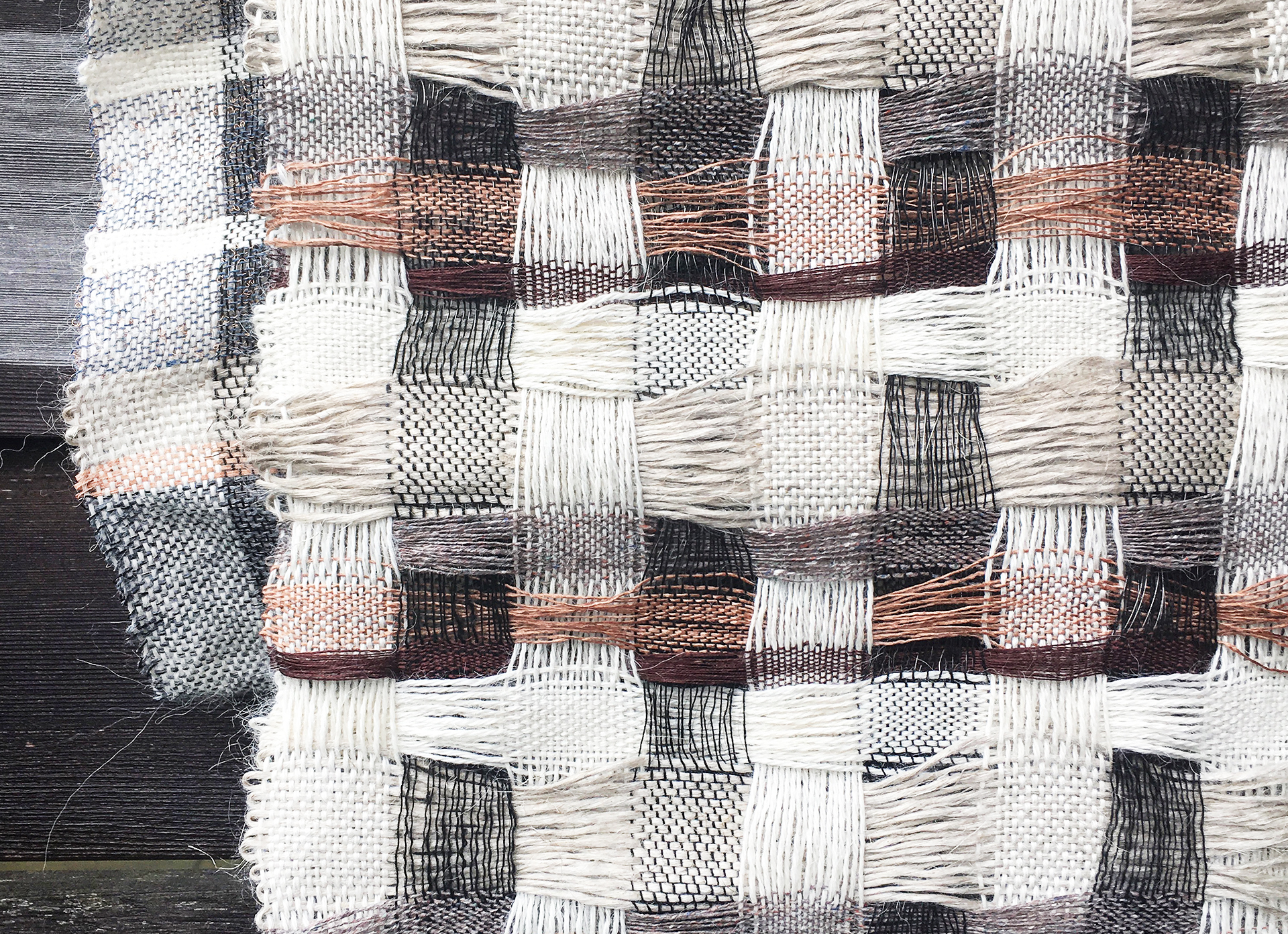 weaving artist Veronica Pock material use