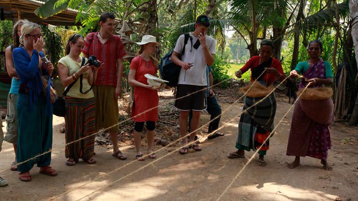 Tourists engaging in Village Life Experiences at Kumarakom, Kerala (Pic courtesy: Kerala Tourism)
