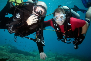 Groshong is an avid diver as well as an expert underwater photographer and conservationist