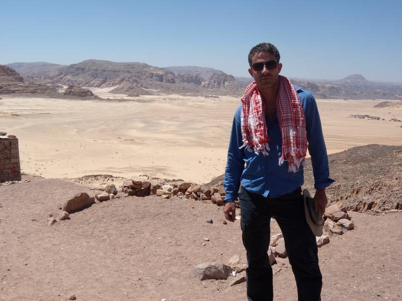 Searching for the Ark of the Convenant in Sinai Desert.