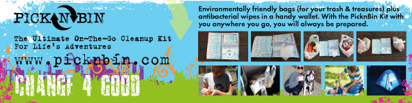 Environmentally friendly bags & wipes in a handy wallet.
