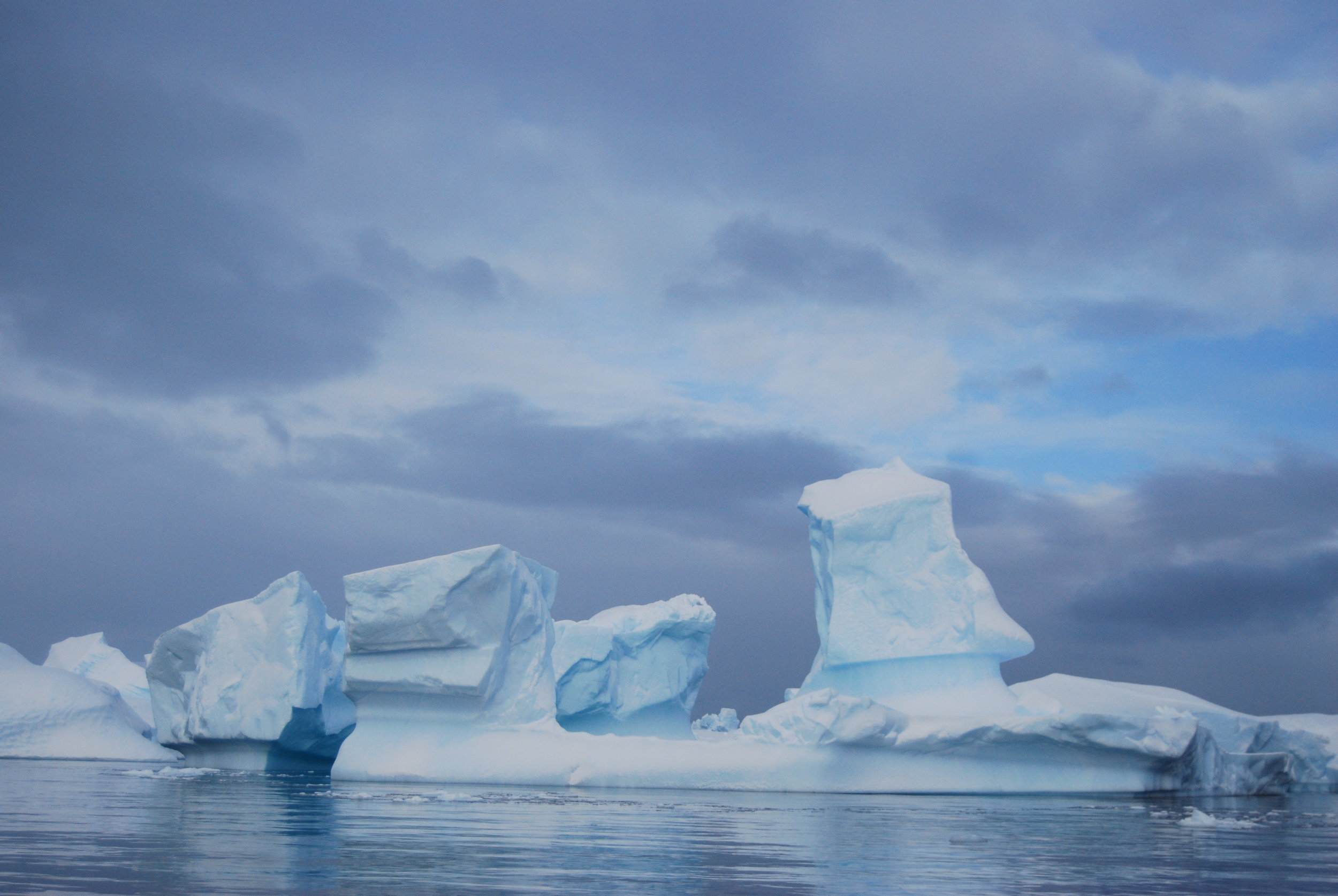 The spectacular blue and white Antarctic landscape (Picture Credits: Prerna Shah)