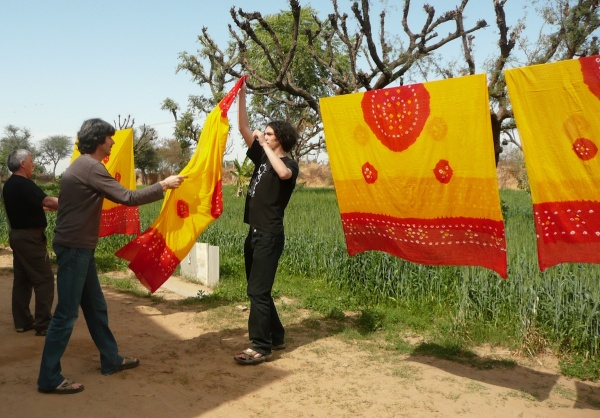 A cultural experience to be had at the tie-and-dye workshop at Apani Dhani.