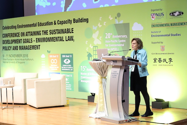 Dr. Sylvia Earle urged all to protect marine creatures and the oceans at the SDGs conference.