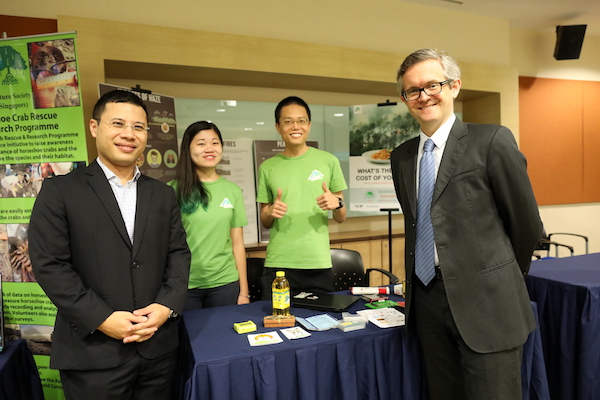 NGOs such as PM Haze shared highlights of their activism at the conference. Here, Minister Desmond Lee (far left) and Prof Simon Chesterman, Dean of NUS Faculty of Law.