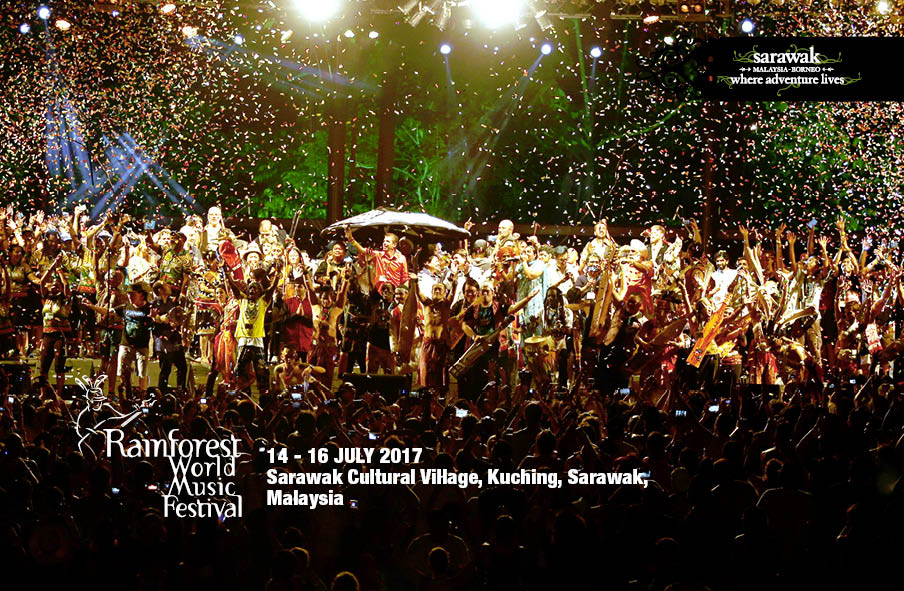 Sarawak's Rainforest World Music Festival combines music, art, craft, culture, food all in one.