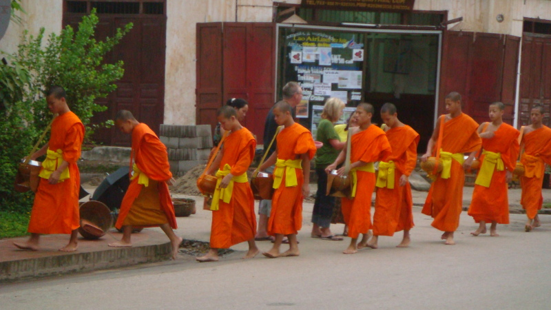 A day in the life of a Laotian monk.