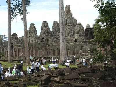 Ancient city Angkor Thom gets spruced up.