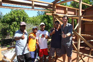 Mantanani resident craftsmen will ensure that construction workmanship is up to scratch.