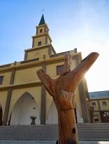 Many churches boast an animist lukik, as well as a cross
