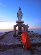 The statue of the Virgin Mary at the top of Mt Ramelau