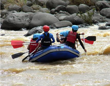 Best place for whitewater rafting in the Philippines