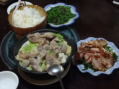 Naxi food has Tibetan influences and uses clay pot cooking to make the most out of limited ingredients
