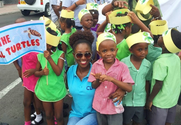 Six local schools were invited to join the march to raise awareness for the Endangered Hawksbill Sea Turtle