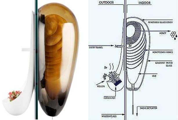 A schematic representation of the Philips futuristic urban beehive design