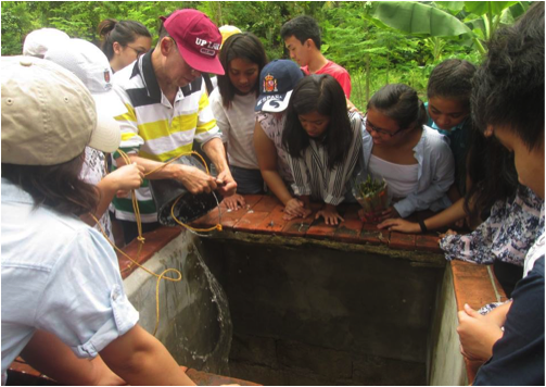 Nature education includes learning about water harvesting, storage and management at Tony Oposa's SEA CAMP.Photo by June Lavil Quinanola.