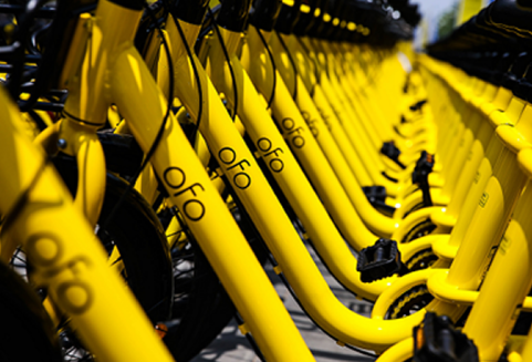 Beijing-based ofo already has 10 million rideshare ebikes in almost 200 cities across the region. Courtesy of ofo.