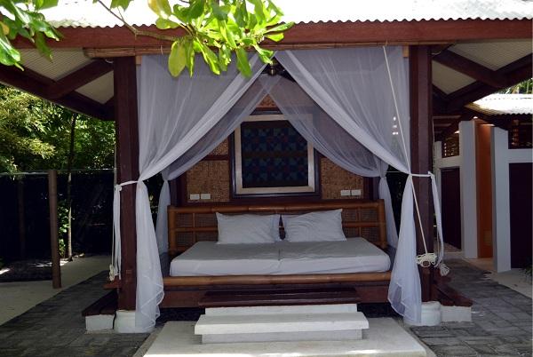Beach hut at Buenavista Island Resort