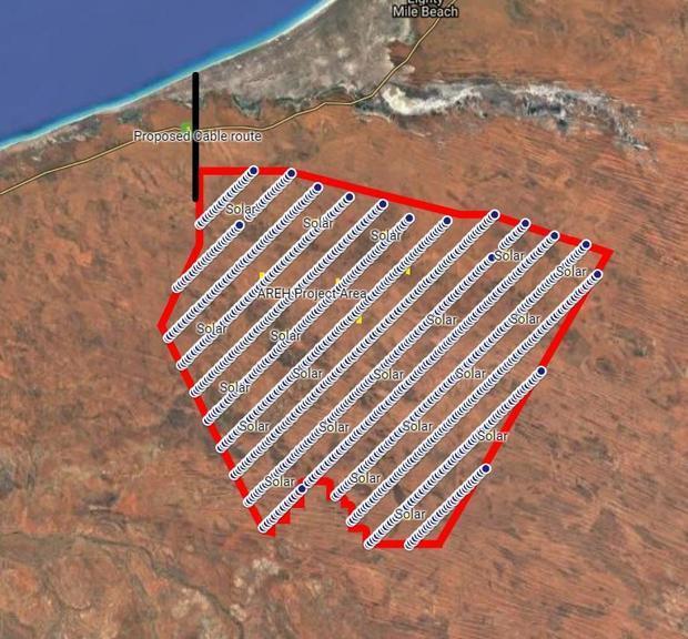AREH will cover some 7,000 sq km in the northwest Pilbara desert in Western Australia. Image courtesy AREH.