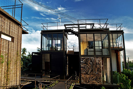 The Tree House isn't really in a tree, but it uses lots of wood and organic materials and is surrounded by trees. Courtesy Tree House.