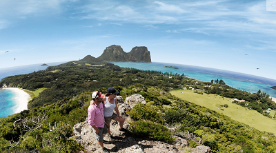 - Some of the best views in the Pacific on Lord Howe. Courtesy Lord Howe.