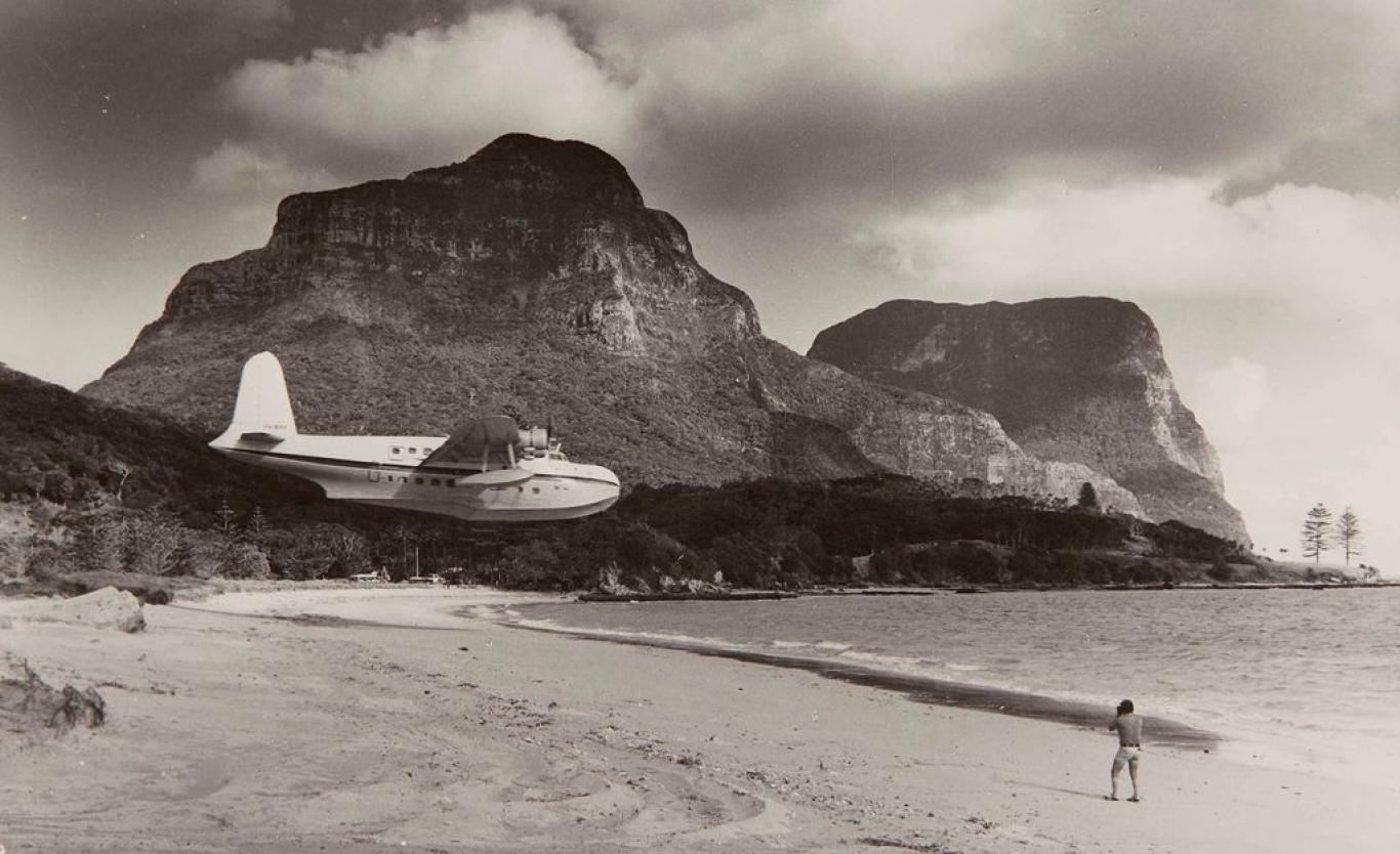 In the old days, you could arrive on the island by flying boat. Strap in!Courtesy Sydney Museums.