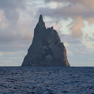 Yes, the world's biggest volcanic stack - Ball's Pyramid. Courtesy Wikipedia.