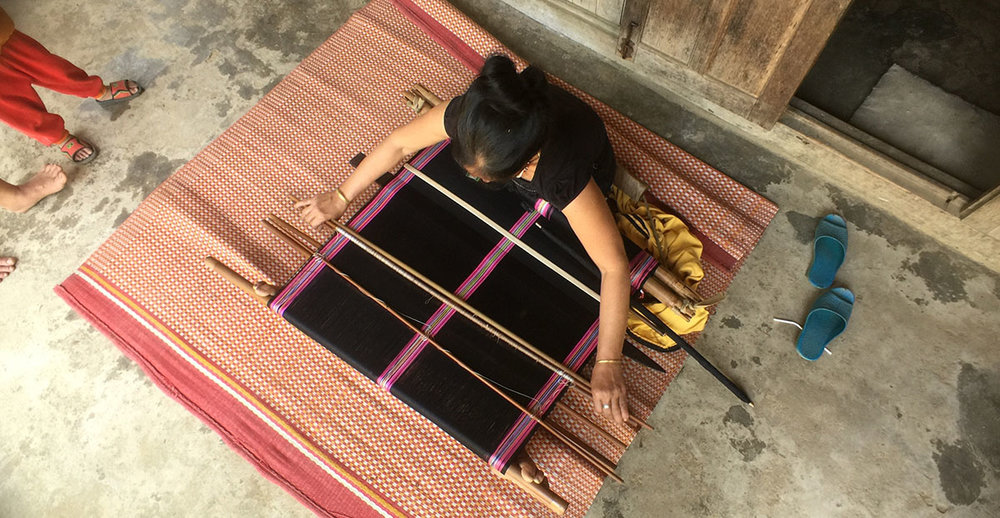 Why not learn how to weave or buy local produce when travelling to villages in Southeast Asia? Image courtesy of Chickenfeet Travels