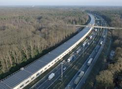 Belgian Railways'solar tunnel will save hundreds of million kg of CO2 in the next 20 years. Courtesy Enfinity.