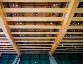 A MET interior roof at The Wave, NTU. Courtesy RSP Architects & Planners.