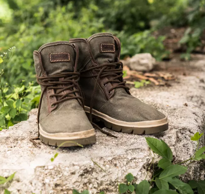 Timberland is now producing boots made with recycled fabric. Courtesy Thread.