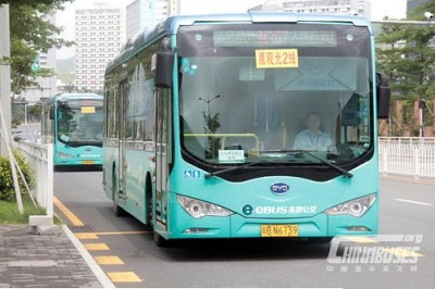 Shenzhen now runs over 16,000 electric buses across all areas of the city. Courtesy China Bus.