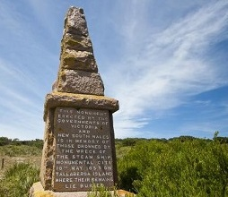 More than 30 people perished when the Monumental City foundered on the rocks. Courtesy Parks Victoria.