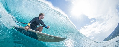 Surfboards built partly from old, polluting fishing nets - a win-win for the sea. Courtesy Starboard Company.