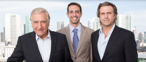 Melo Group president Dr. Jose Luis Ferreira de Melo and his sons Martin and Carlos Melo are keen to promote car-usage reduction in their developments. Courtesy Melo Group.