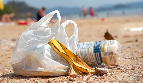 Discarded plastic bags should become a rarer sight on Chile's ocean beaches. Courtesy Santiago Times.
