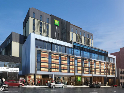 The Ibis Hobart is the first urban five-star green hotel in Australia. Courtesy Accor Hotels
