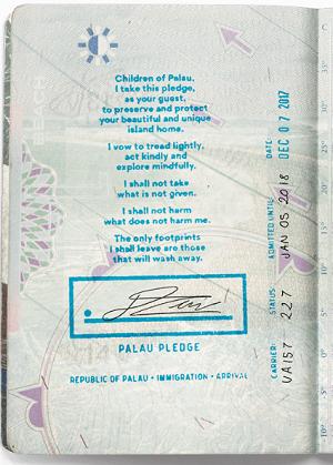 The Pulau Pledge - tread lightly, take nothing not given. Courtesy Pulau Nation.