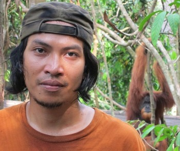 """""""Borneo is the last remaining rainforest on the planet and we cannot stand by and let it be taken from us"""", says Noni."""