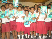 Balinese kids learnt how to care for marine life at Aquamarine Dive Centre