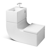 Roca Innovation re-uses water from hand basin to cistern.