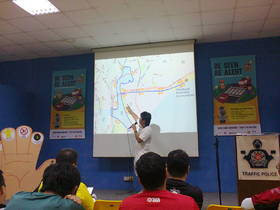 The pre-ride briefing went through all the important aspects of the new section as well as key points of interest
