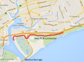 The latest section of PCN links existing sections at East Coast to Gardens by the Bay