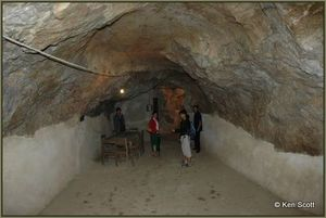 The massive cave complex includes offices, surgeries, a theatre and eating and sleeping quarters