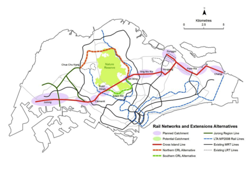 Alternative routes proposed to circumvent severe impacts to the CCNR. Source: Tony O'Dempsey lovemacritchie.wordpress.com