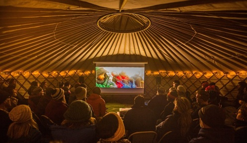 Screenings will once again be held in the famous yurt cinema. Courtesy CMFF.