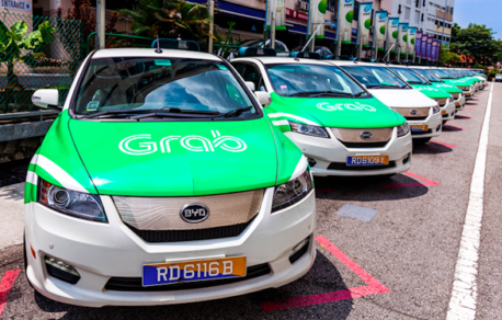 Grab Taxi's smart app has propelled it to position of leader in ride sharing. Courtesy Grab.