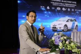 BYD's Liu Xueliang says this is only the start for EVs in Singapore. Courtesy BYD.