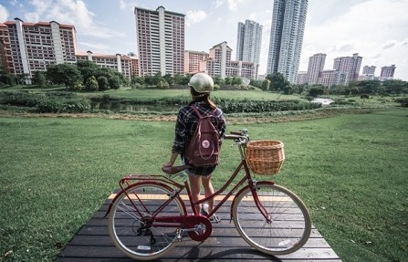 Singapore has some great bike paths - but commuting is not yet common. Courtesy thesmartlocal.com