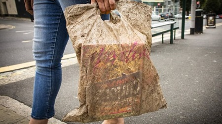 It's been buried in the ground for three years. But it's still strong enough to hold your shopping. Courtesy UOP.